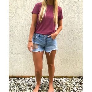 Vintage Look 501 Distressed Levi's Jean Shorts